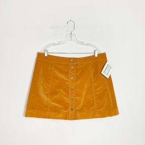 Madewell | corduroy button front a-line skirt 18